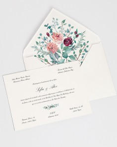 "Card ""Eucalyptus and Roses I"""