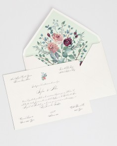 "Card ""Eucalyptus and Roses II"""