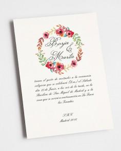 """Wedding invitation """"Summer"""""""