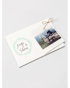 invitación polaroid con foto para boda