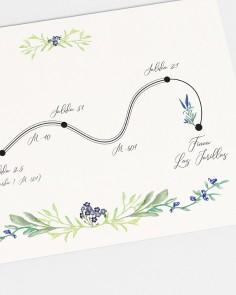 "Map ""Wild hyacinths"""