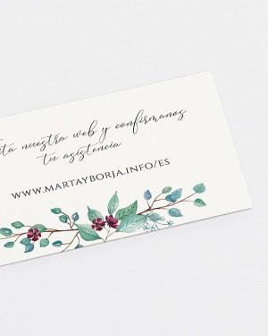 "WEB CARD ""EUCALYPTUS AND ROSES"""