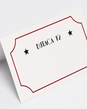 "PLACE CARDS ""CINEMA"""