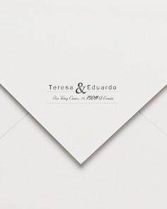 sello de caucho postal ampersand